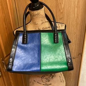 Dasein Black blue green Vintage handbag